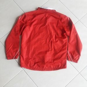 Reebok Jackets & Coats - Reebok Red Front Zipper Wind/Rain Coat Size XLarge